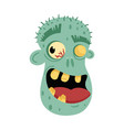 undead smiling man head avatar in cartoon style vector image