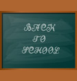 back to school chalk text vector image