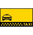 backdrop for taxi visiting card vector image