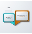 modern bubble speech icons set vector image vector image