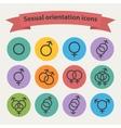 sexual orientation black web icons vector image