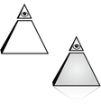 Pyramid with eye vector image