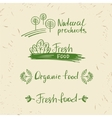 Set logos natural products Design elements for vector image