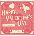 Typographic Valentines Day Retro Background Vintag vector image