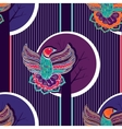 Colorful seamless pattern with birds vector image
