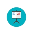 Screen Report sign pictogram Flip Chart Icon - vector image