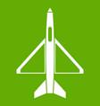 military aircraft icon green vector image