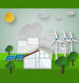 paper art of a renewable green vector image