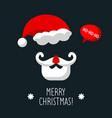 poster with santa claus and text merry vector image