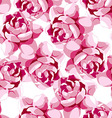 Seamless floral pattern with pink flower vector image
