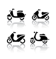 Set of transport icons - scooter and moped vector image