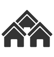 Town Buildings Flat Icon vector image