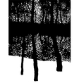 trees in the winter forest vector image