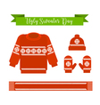 Ugly sweater day vector image