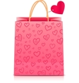Valentines day rore paper shopping bag vector image vector image