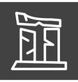 Broken Pillar vector image