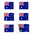Australia flag set vector image vector image