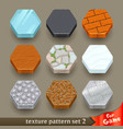ground texture patterns for game-set 2 vector image vector image