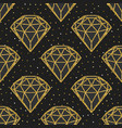 seamless pattern of geometric golden foil diamonds vector image