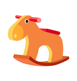 icon wooden horse vector image