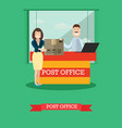 post office concept in flat vector image
