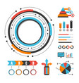 495modern graph infographic vector image