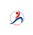 people sport yoga beauty logo vector image