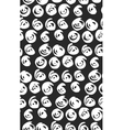 seamless black and white flourish pattern vector image