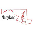 maryland vector image