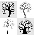 set of four trees vector image