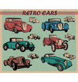 set of retro cars vector image