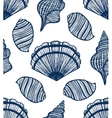seamless background with seashells vector image