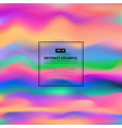 Abstract colorful 3d wavy background liquid color vector image