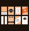 Collection of autumn cards sale and other vector image
