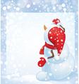 snowman draw vector image vector image