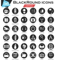 Office circle white black icon set Ultra vector image
