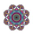 Acid color ethnic aztec tribal mandala pr vector image