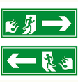 fire exit 1 vector image