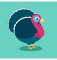 funny cartoon turkey vector image