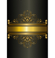 Gold vintage pattern with ribbons and strips vector image