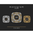 Monogram design Abstract template letter M vector image