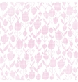 Pink textile tulips texture seamless pattern vector image
