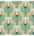 Seamless pattern the face of a cute rabbit vector image