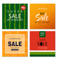 set of sale banner templates vector image