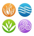 symbols of four elements vector image