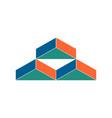 warehouse logo abstract barn hangar geometric vector image