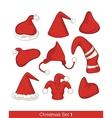 Christmas Hats Set vector image vector image