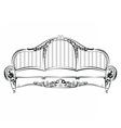 Royal Elegant Sofa with classic ornaments vector image