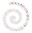 weight fireworks spiral vector image