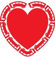 Heart Train vector image vector image